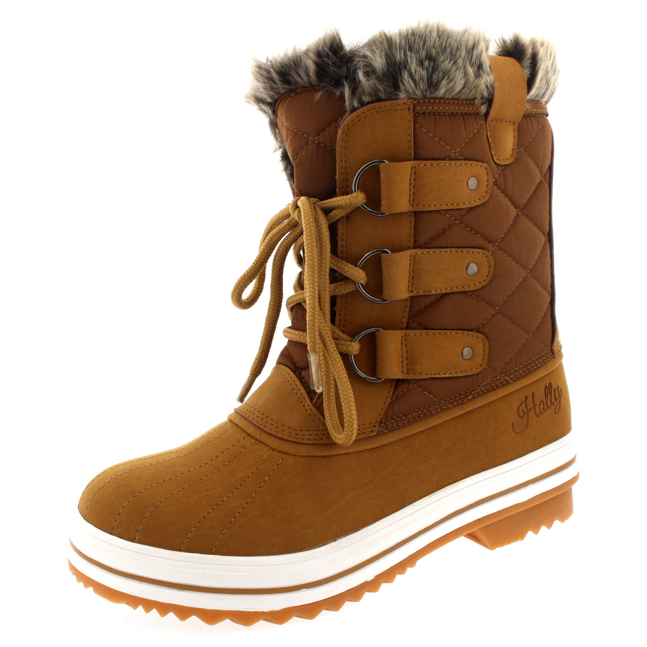 Beautiful Womens Snow Boot Nylon Short Winter Snow Fur Rain Warm