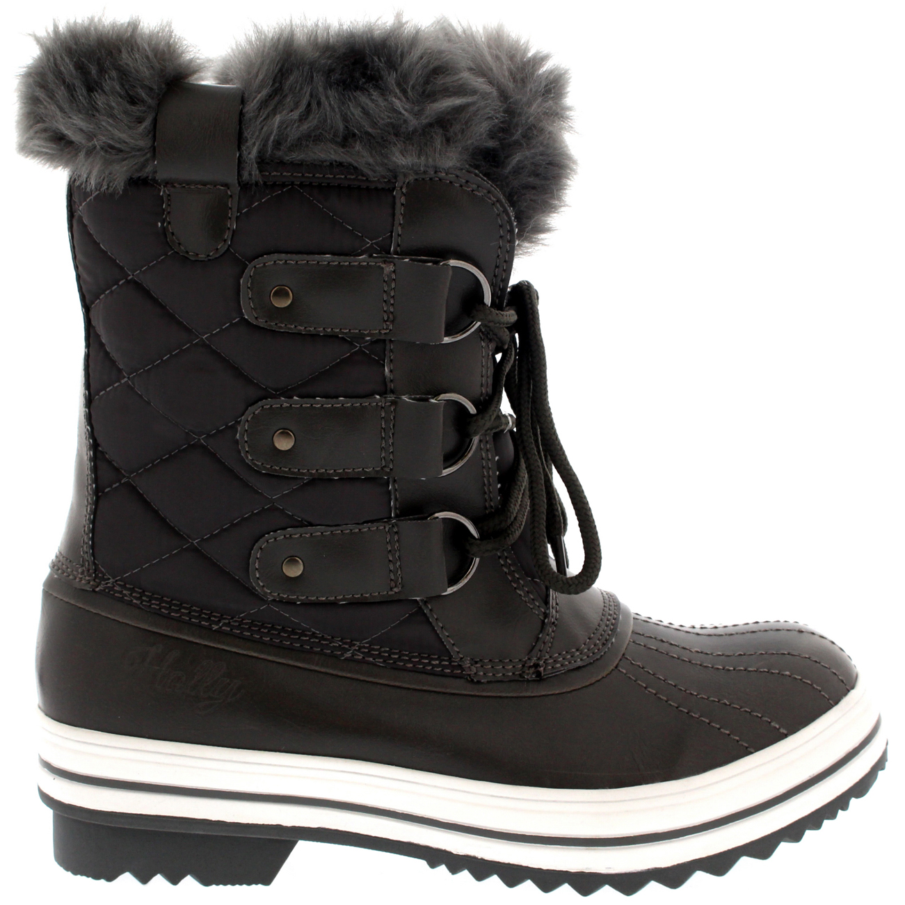 Excellent BlackShinyWaterproofWinterSnowWarmWomensBoots