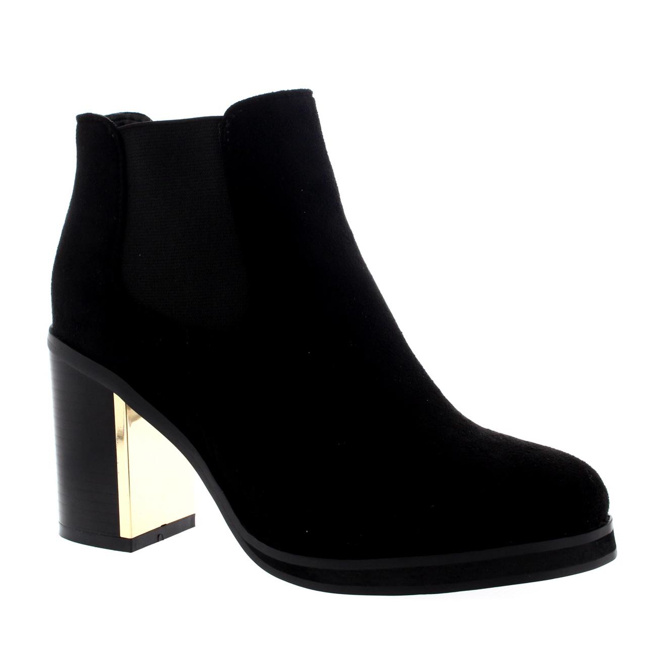 Gold Trim Chelsea Boots