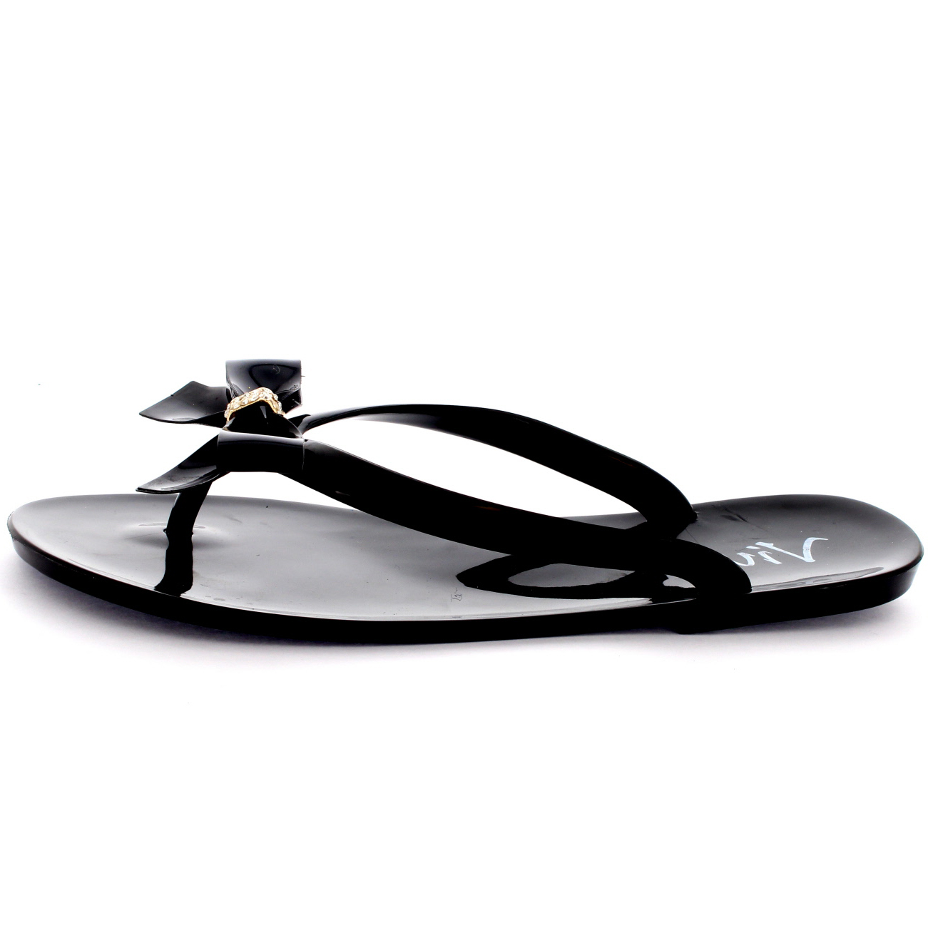 Womens Summer Holiday Slip On Beach Shoes Bow Jelly Flip Flops Sandals UK 3-9