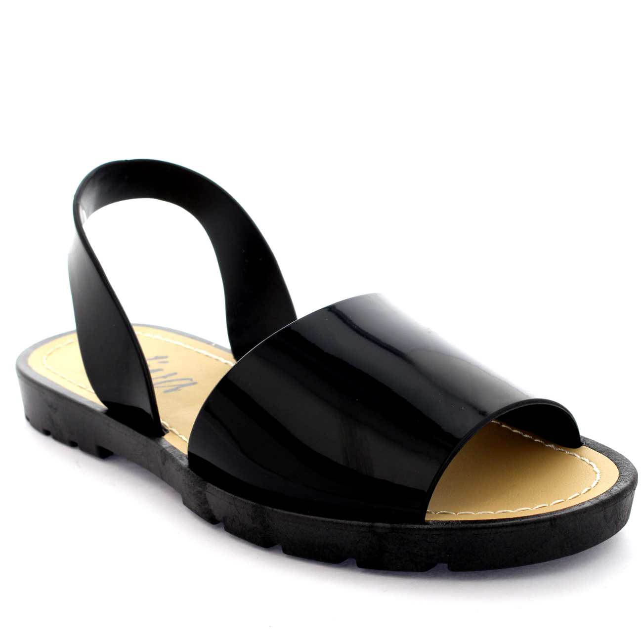 Womens Sling Back Peep Toe Sliders Flip Flops Festival Flatform Sandals UK 3-9