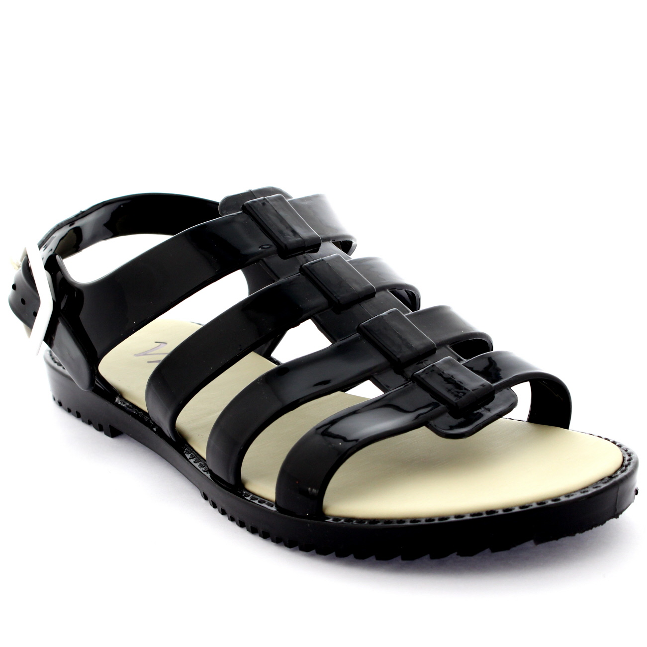 Womens Ankle Strap Jelly Summer Peep Toe Buckle Holiday Festival Sandals UK 3-9