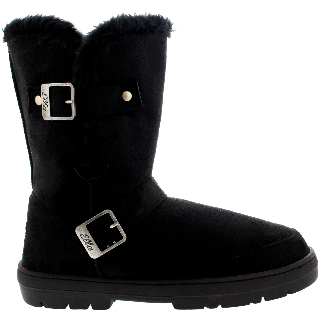 Short Buckle Fur Boots