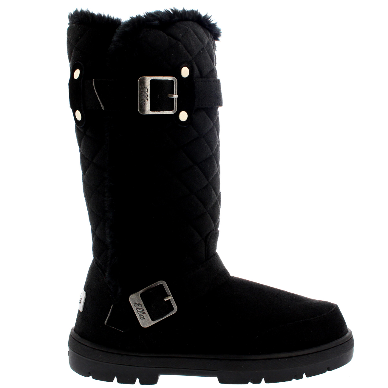 Tall Quilted Fur Boots