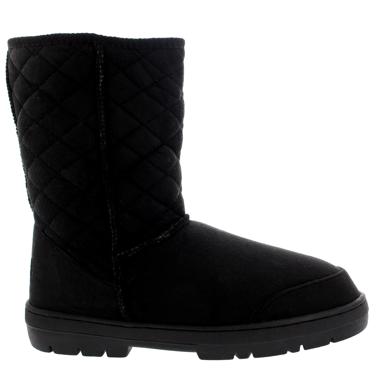 Short Quilted Fur Boots