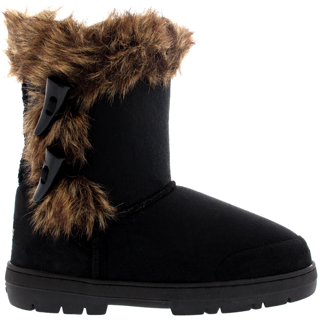 Twin Toggle Fur Boots