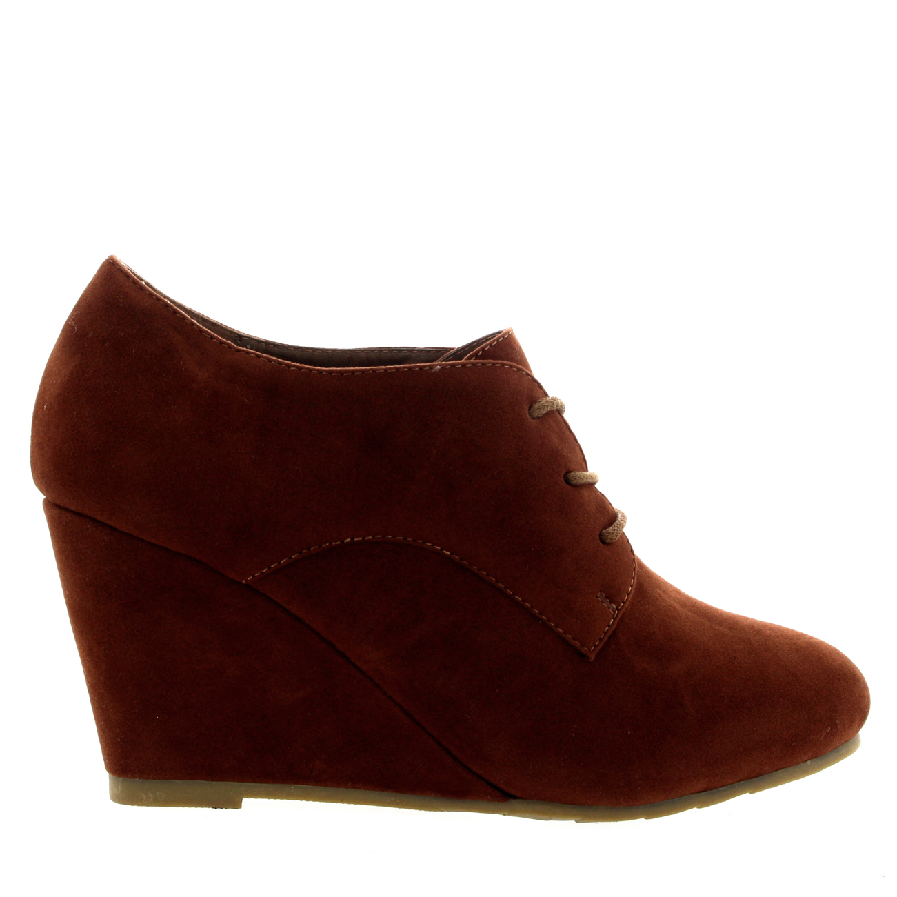 Wedge Heel Lace Up Boots