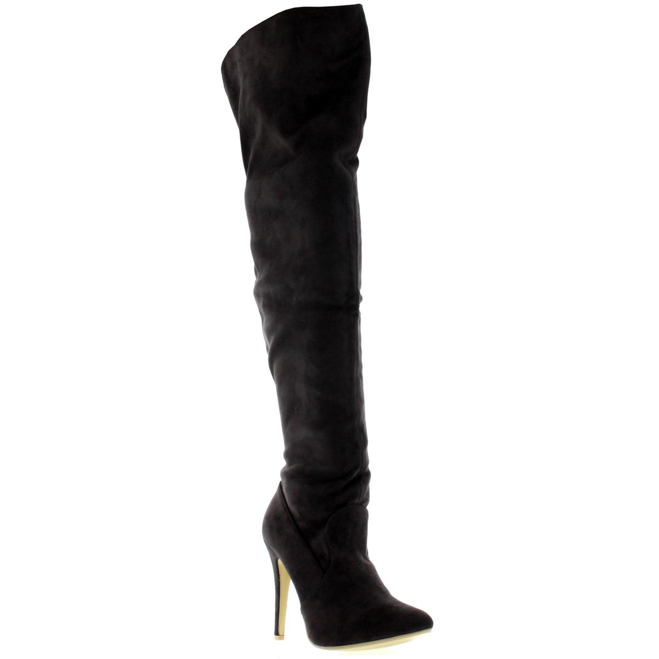 womens thigh high platform stretch high heels evening high