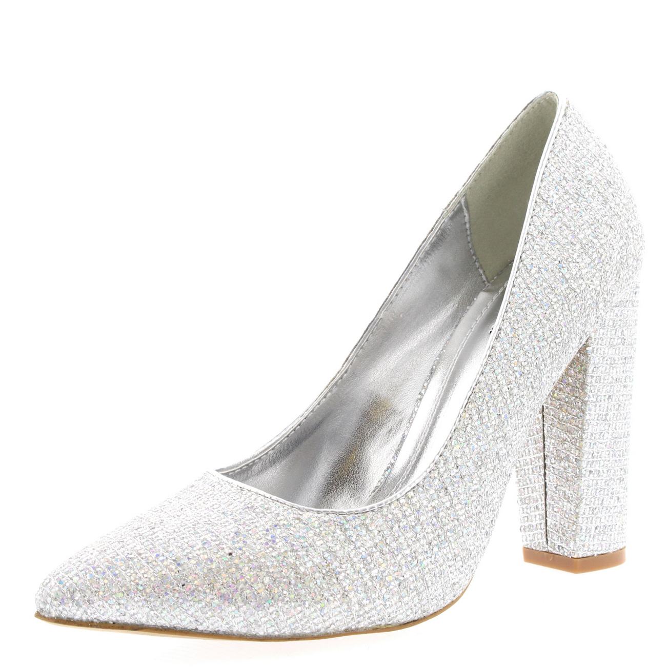 Womens Office Evening Block Heel Pointed Toe Pumps Shoes Work