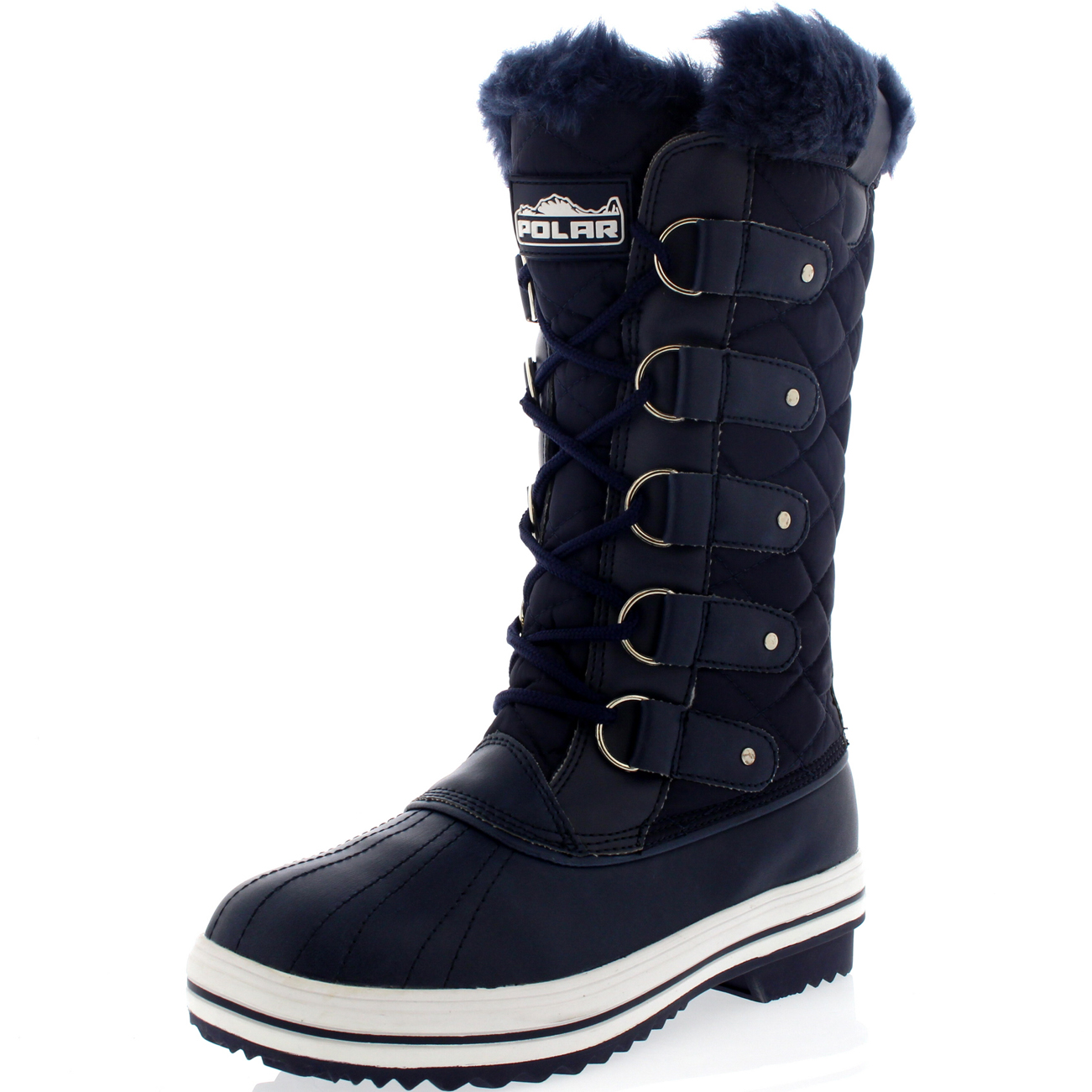 Excellent Details About Forever IB93 Women39s Pom Pom Lace Up Snow Boots