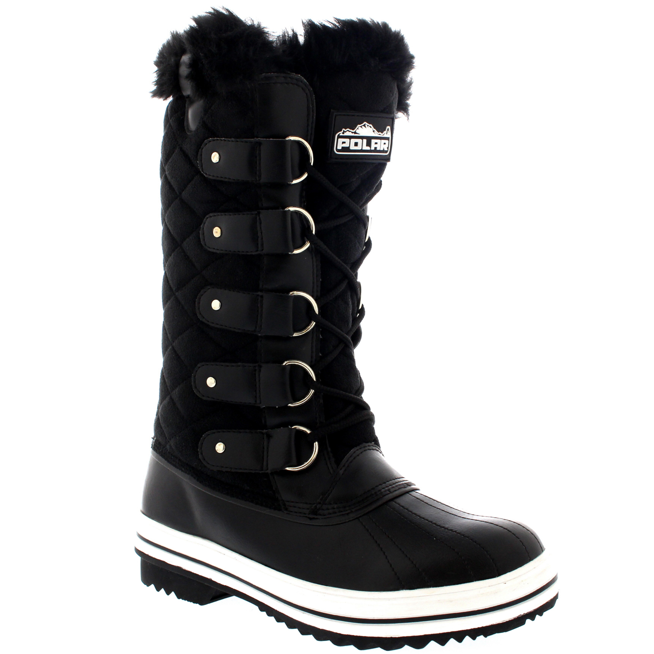 New  Lace Up Fur Lined Warm Shoes Duck Winter Snow Boots UK 310  EBay
