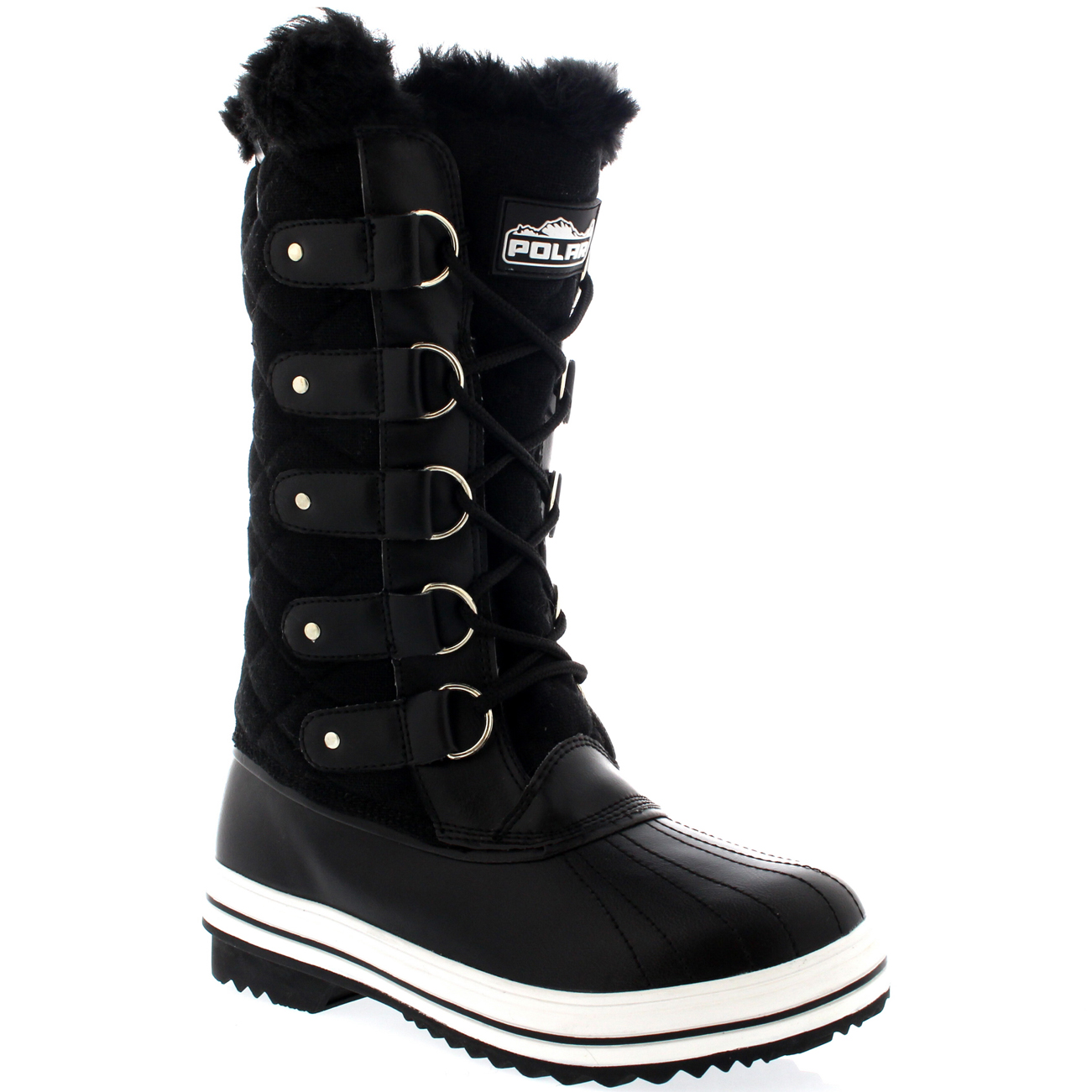 Lastest Polars Cold Weather Footwear Are A Must Have Essential Of The Winter Wardrobe Ideal Casual Outdoor Footwear For Those Cold Winter Days And Suitable For Those Participating Winter Activities This Mid Calf Boot Has A Plain Upper, Lace Up