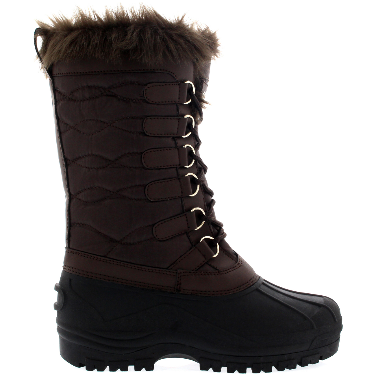 womens cold weather outdoor snow duck winter fur