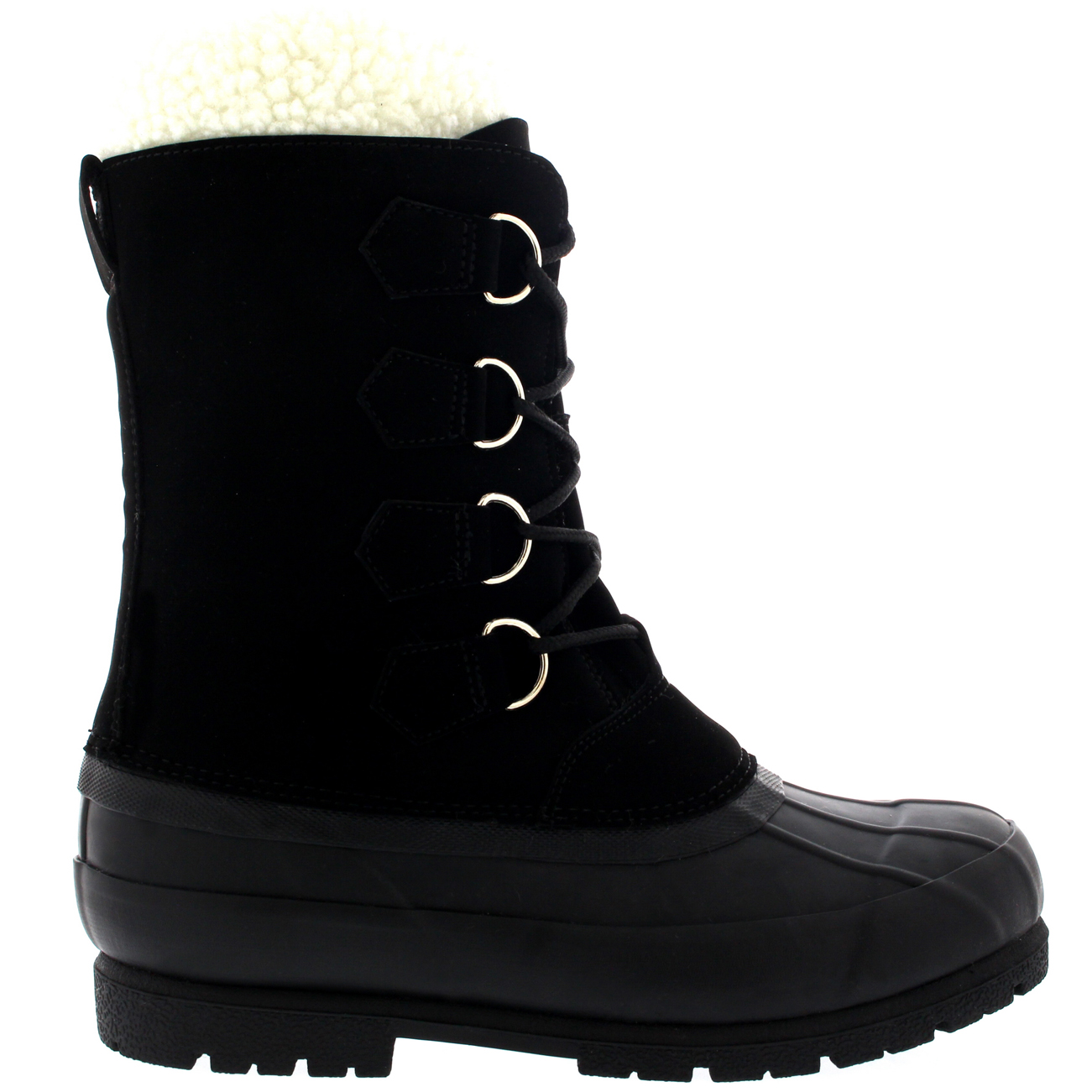 mens wool lined 100 rubber duck sole outdoor cold weather