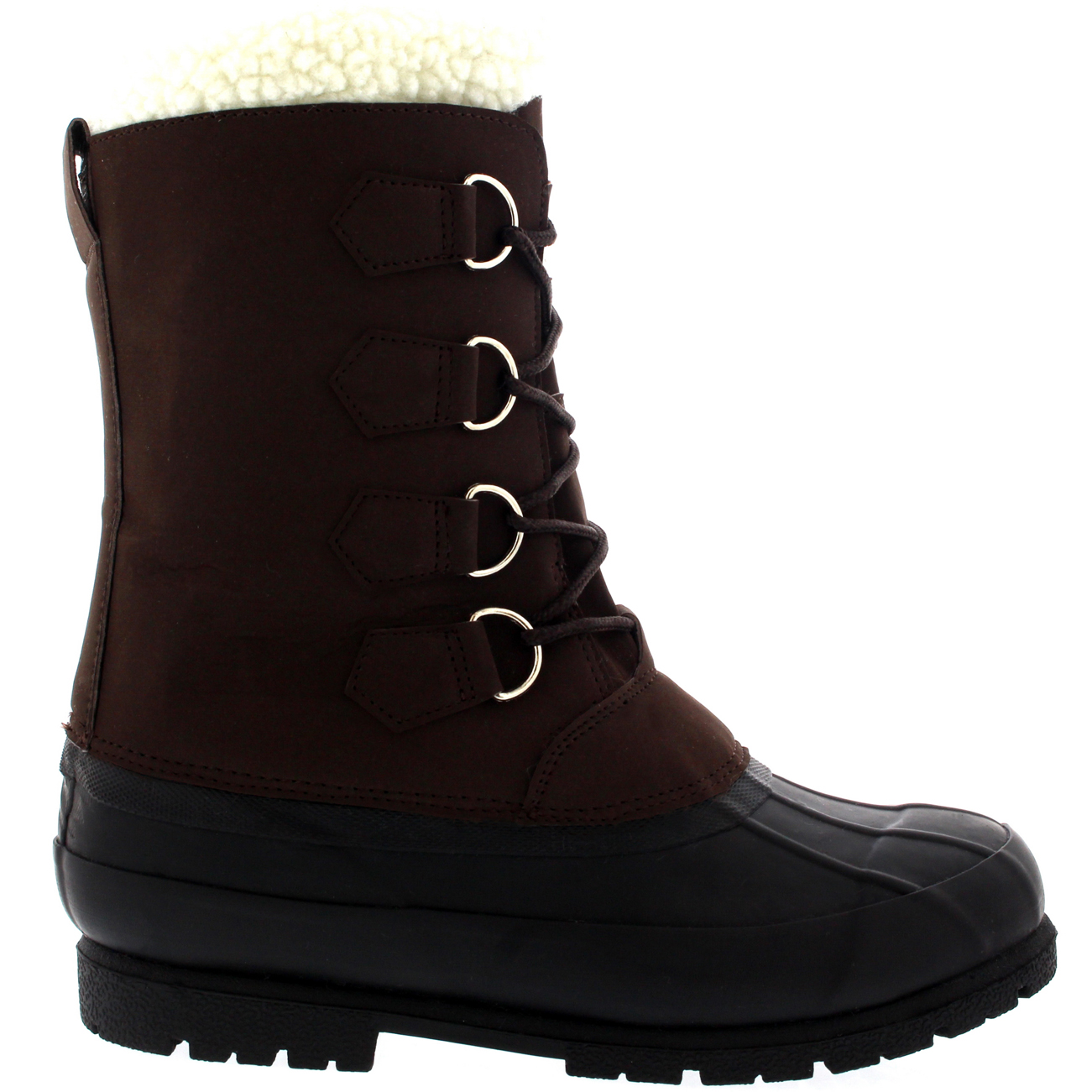 Mens Wool Lined 100% Rubber Duck Sole Outdoor Cold Weather Winter ...