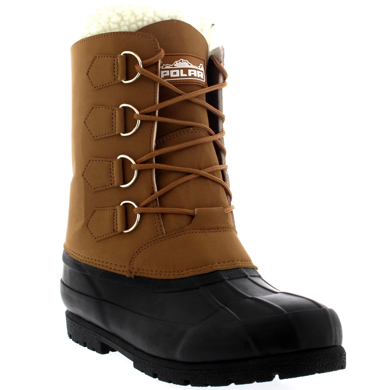 Mens Wool Lined 100% Rubber Duck Sole Outdoor Cold Weather ...