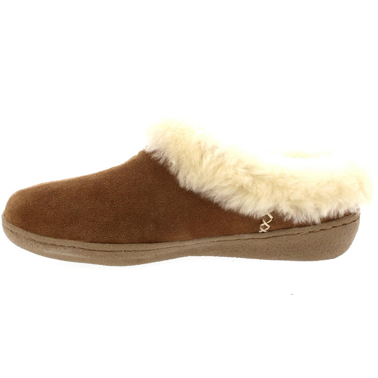 Womens Genuine Suede Australian Sheepskin Fur Lined Warm Mules Slippers UK 3-10 | eBay
