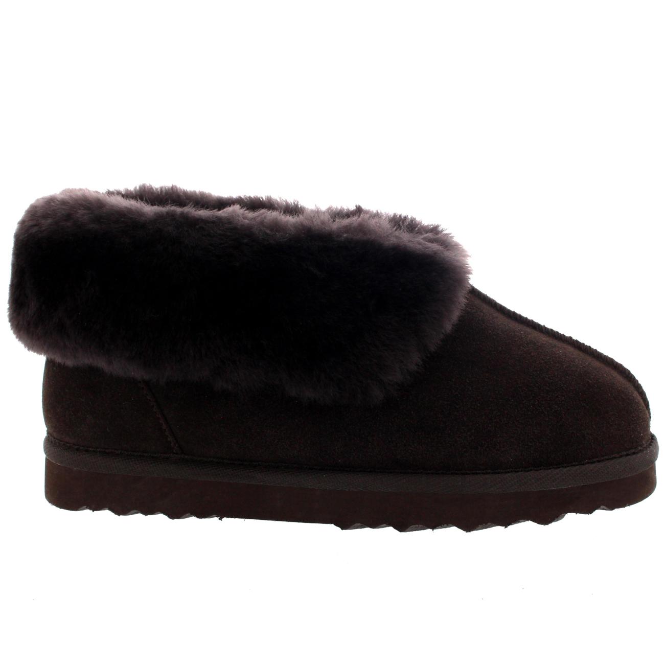 Womens Real Suede Australian Sheepskin Fur Lined Warm House Slipper Boots 3-10 | eBay