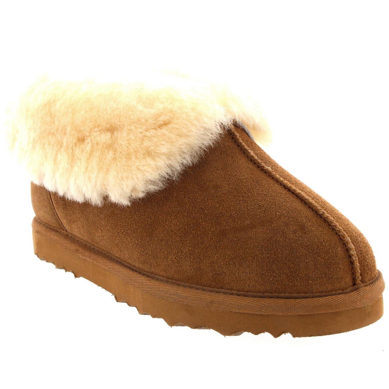 womens real suede australian sheepskin fur lined warm