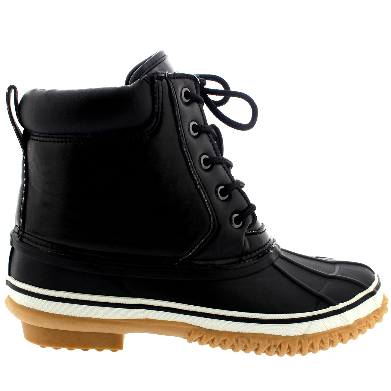 Awesome  Lace Up Fur Lined Warm Shoes Duck Winter Snow Boots UK 310  EBay