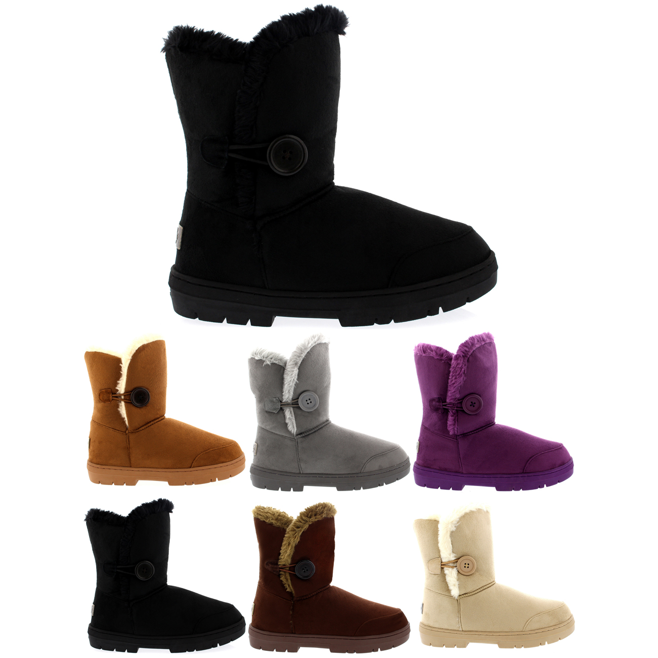 One Button Short Classic Boots