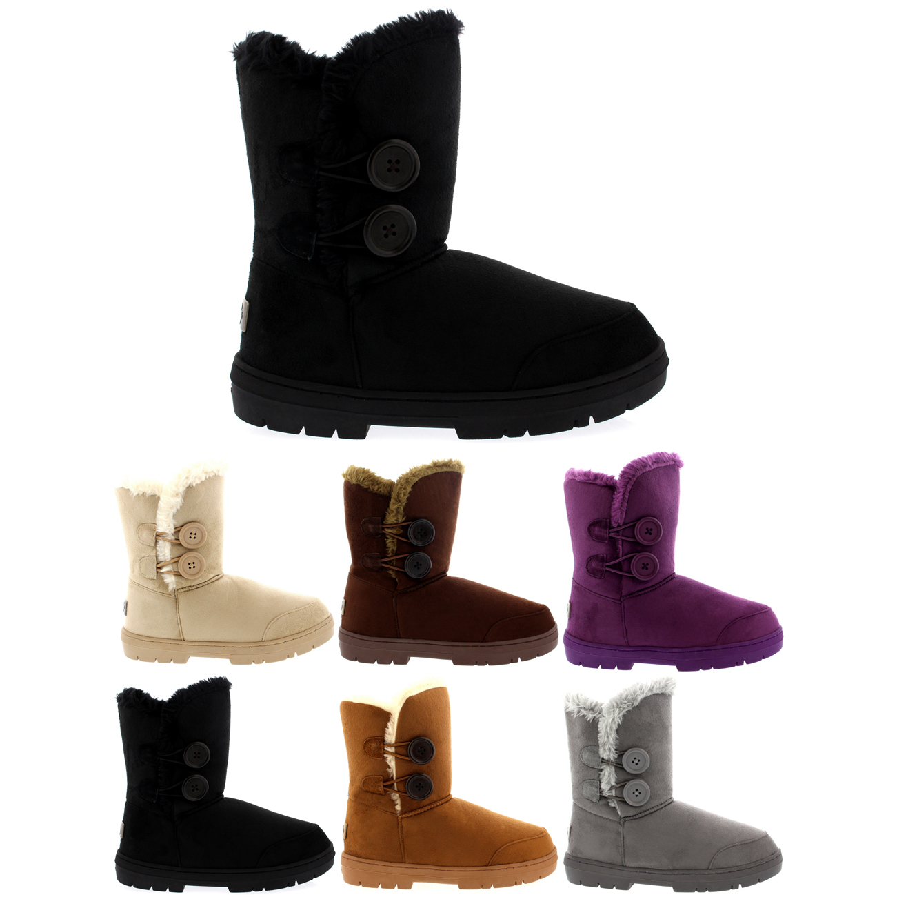 Twin Button Short Classic Boots