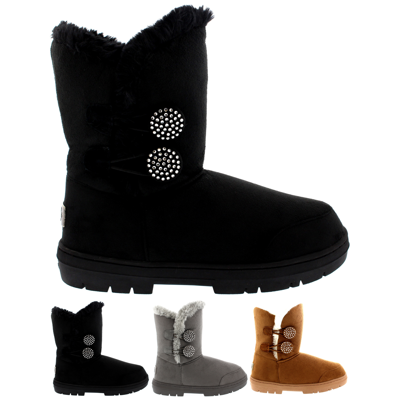 Twin Button Diamond Sprinkle Short Classic Boots
