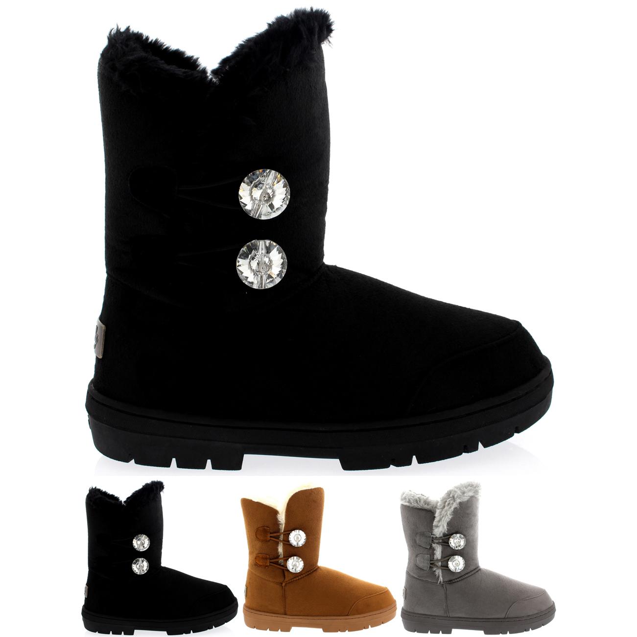 Twin Button Diamond Short Classic Boots