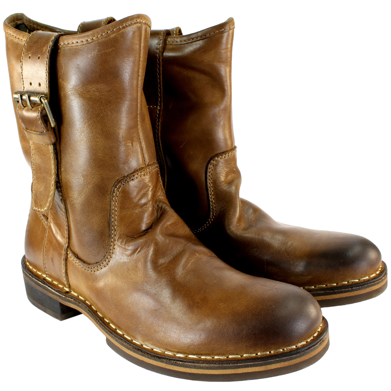 Women Mid Calf Boots Pull on