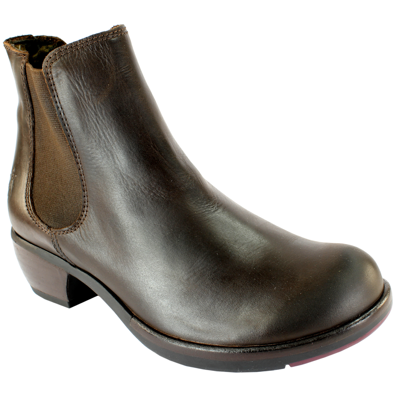 WOMENS FLY LONDON MAKE LOW HEEL ELASTICATED PULL ON CHELSEA BOOTS ...