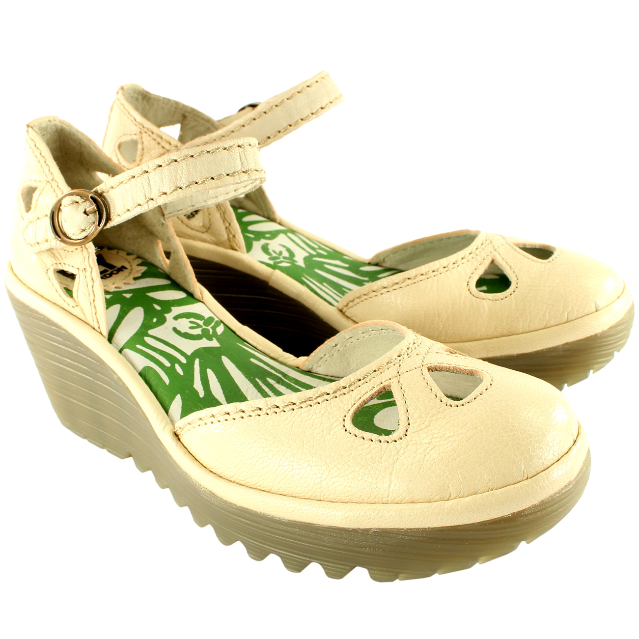 Fly London Yuna Wedge Heel Sandals