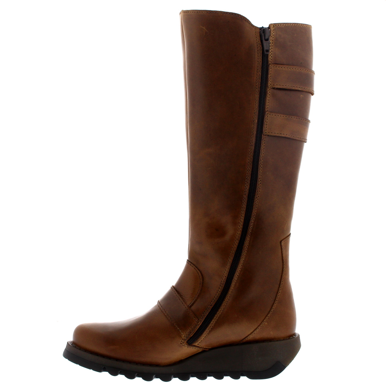 womens fly solv leather knee high winter