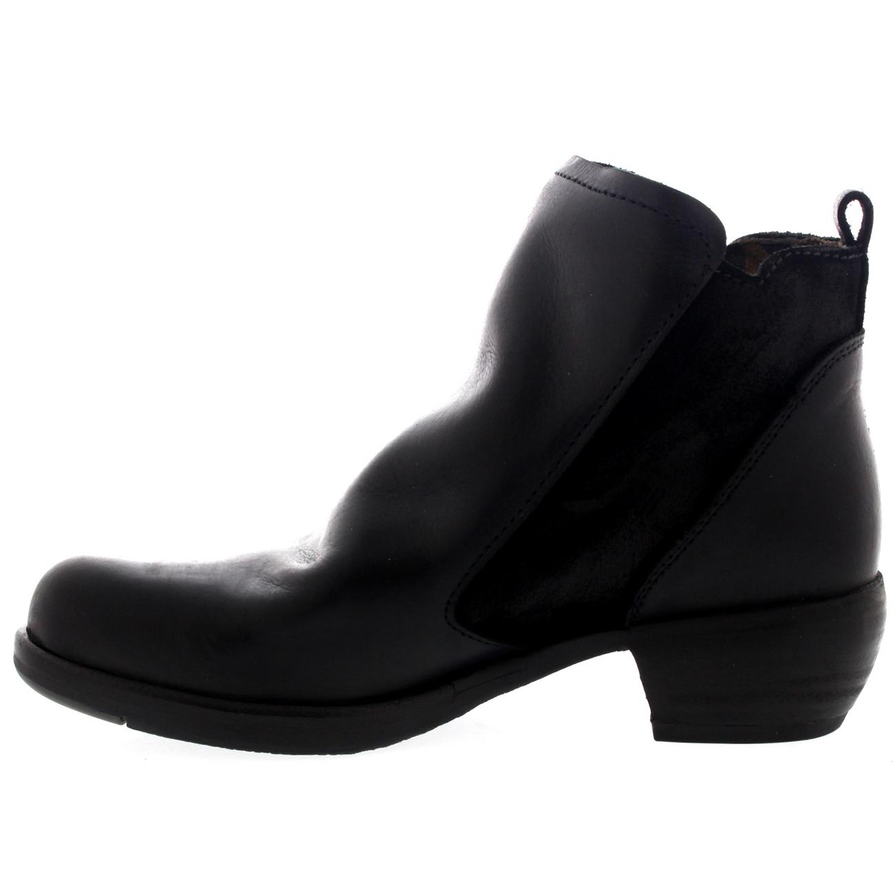 Womens Fly London Meli Rug Leather Cowboy Low Heel Western Ankle ...