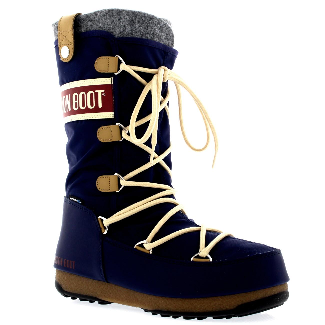 Womens Tecnica Original Moon Boot Monaco Felt Waterproof
