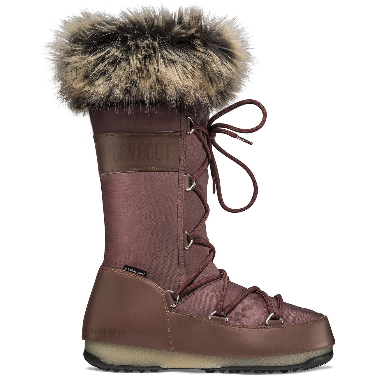 Moon Boot Mónaco para Mujer Esquí Impermeable 2 Nieve Invierno Botas Mitad de Pantorrilla UK 2.5-8