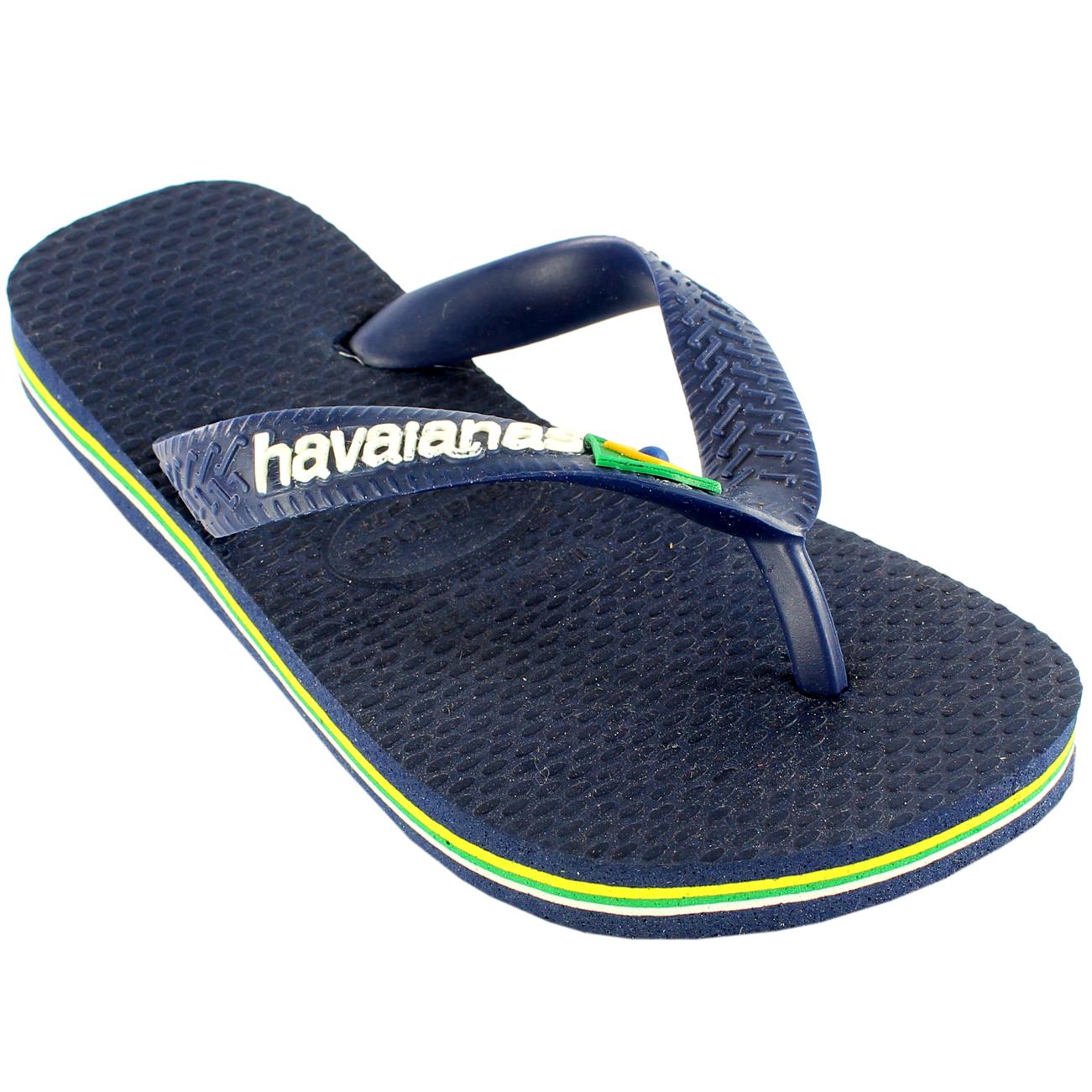 Unisex Kids Havaianas Logo Slip On Summer Beach Sandal Flip Flops UK Sizes 8-4