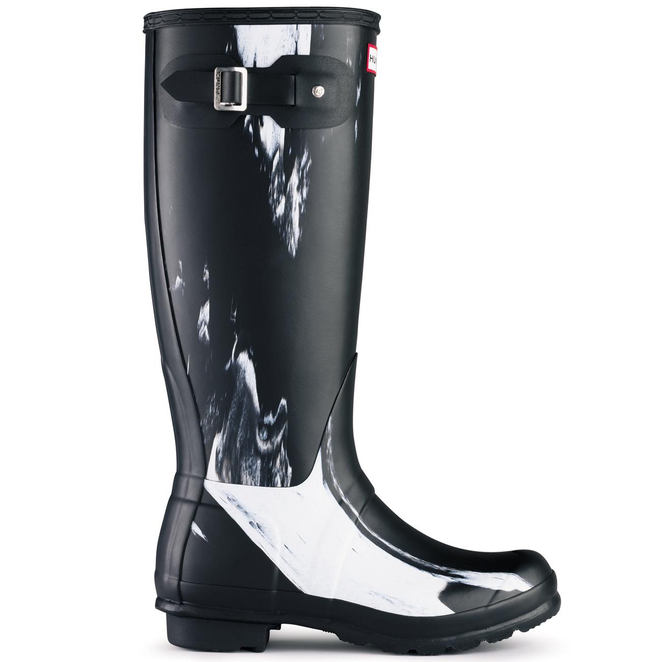 Luxury Hunter ORIGINAL TALL GLOSS Womens Graphite Rubber Waterproof Rain Snow