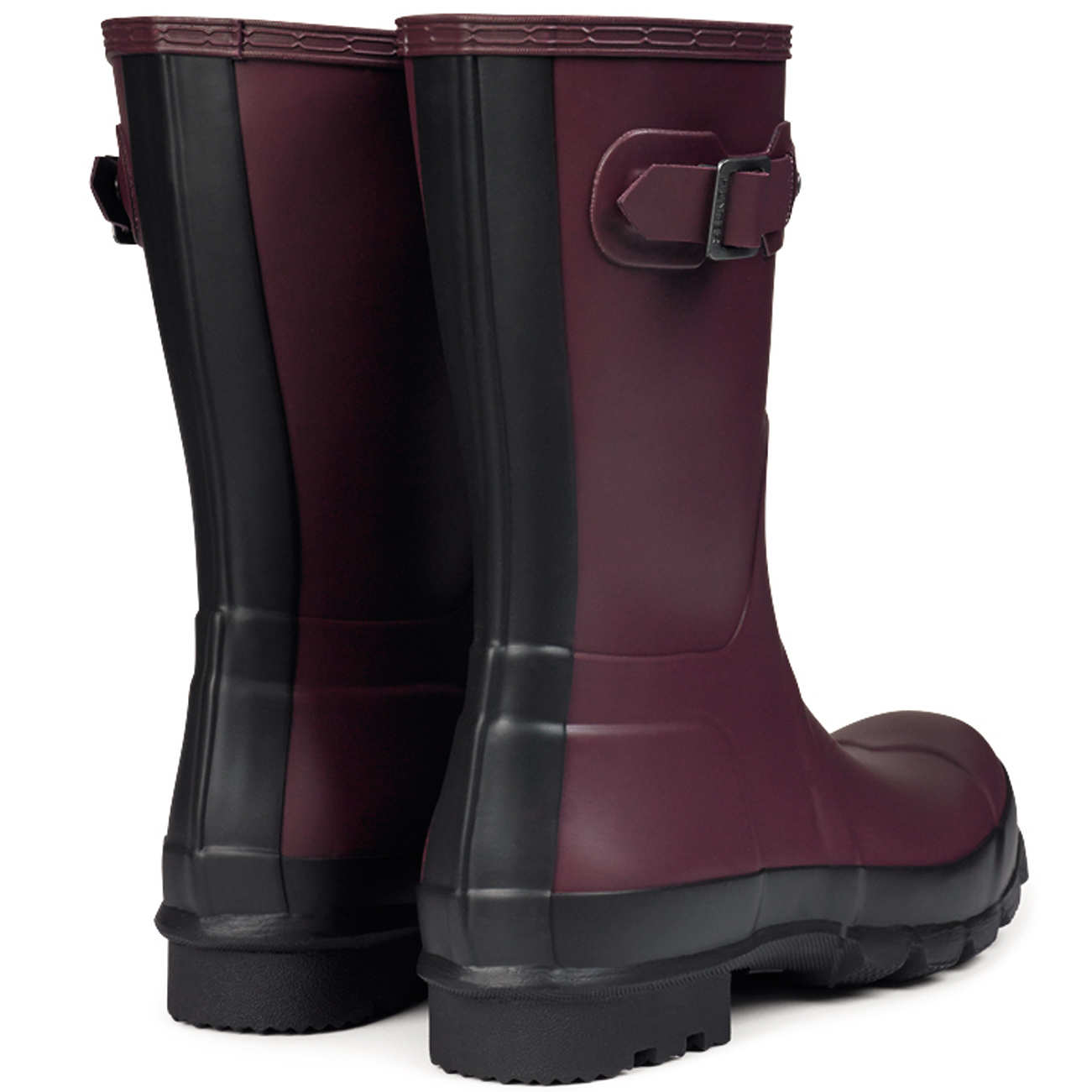 Mens Hunter Original Two Toned Short Wellingtons Snow Winter Rain ...