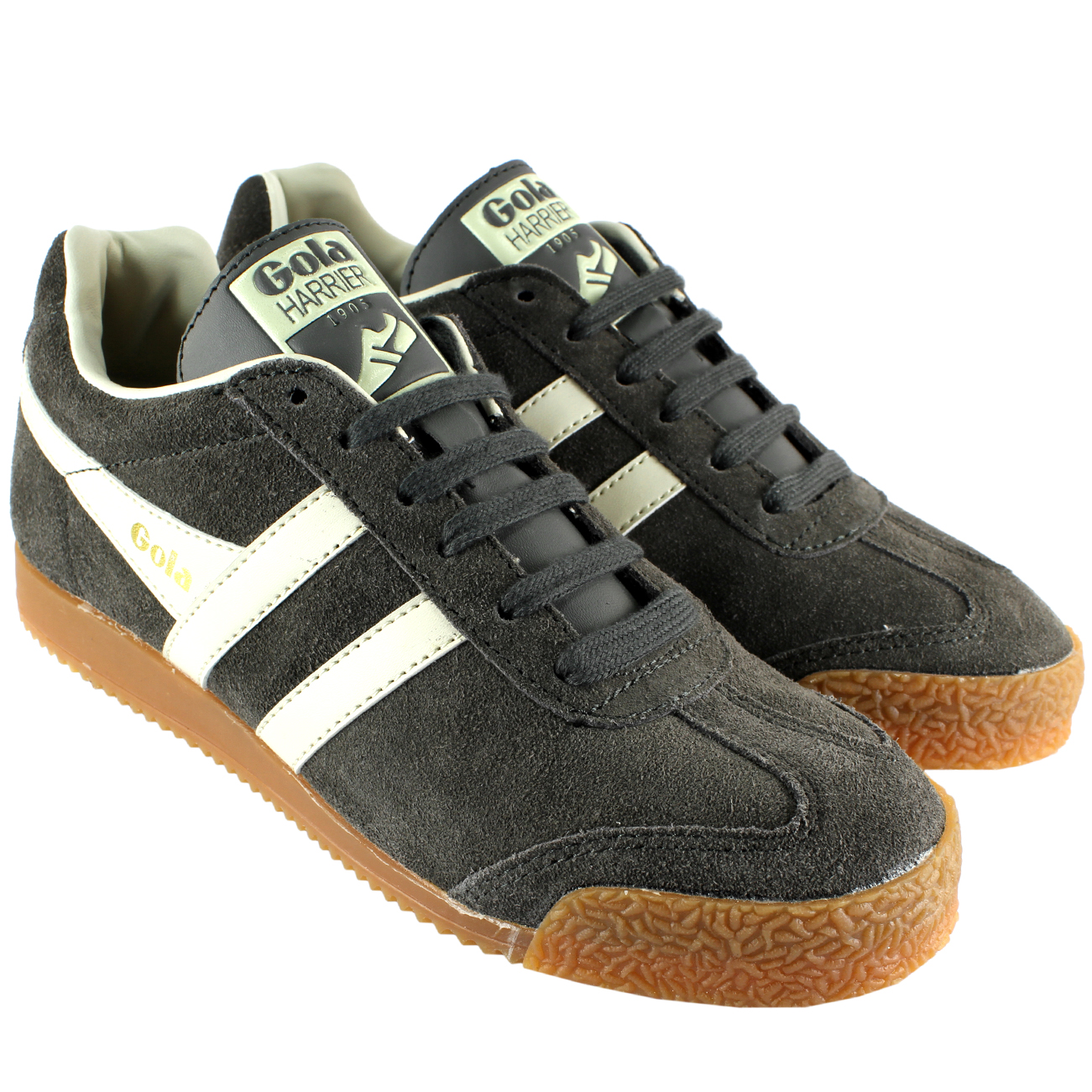 Gola Harrier Low Top Suede Trainers