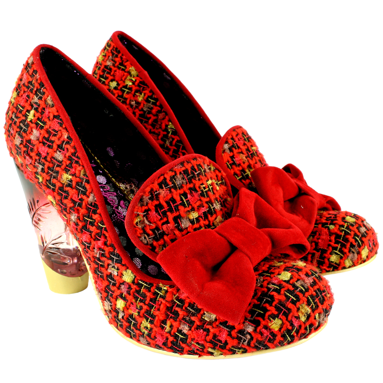Irregular Choice Red Tweed Shoes