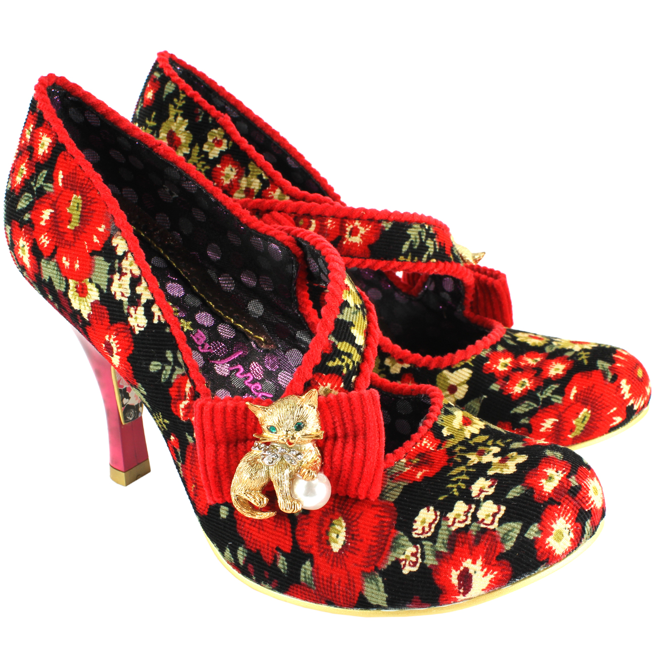 Irregular Choice Wiskers Mid Heel Court Shoes