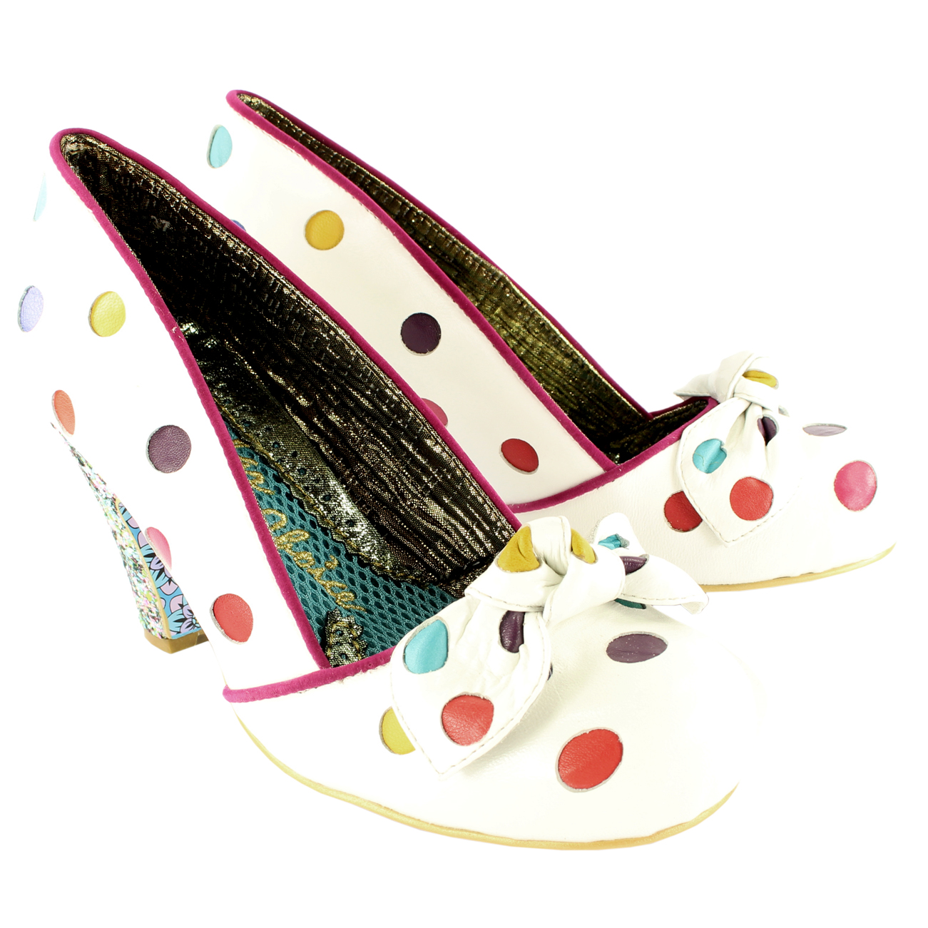 Irregular Choice Spot The Dot Mid Heels