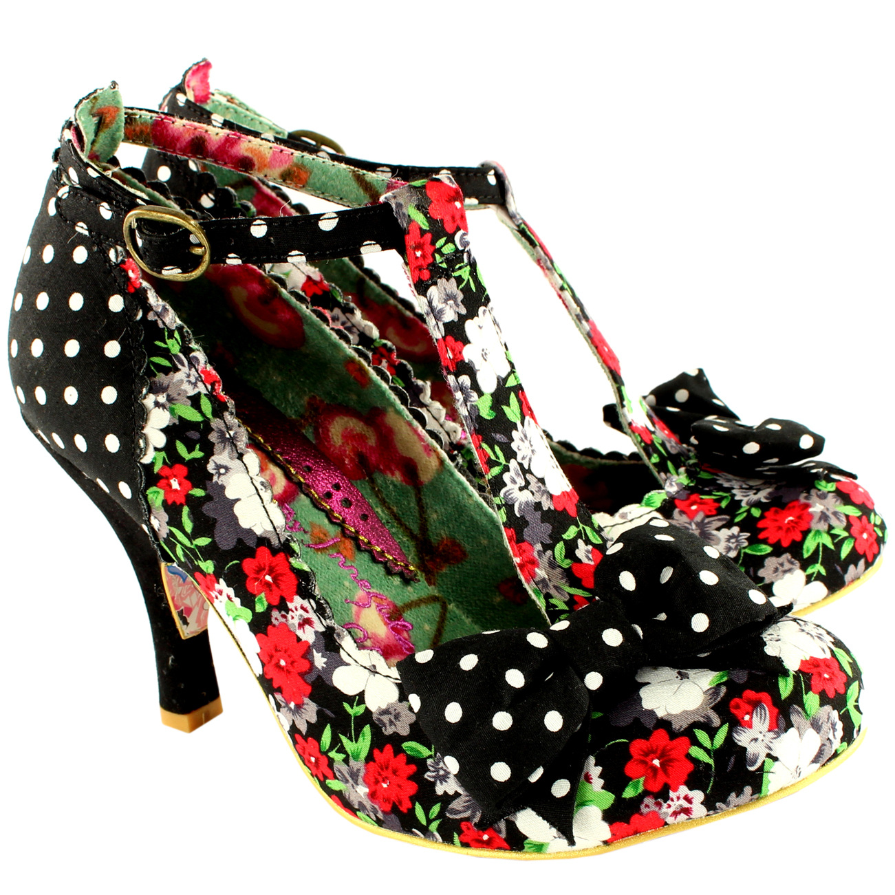 Irregular Choice Bloxy High Heel Court Shoe