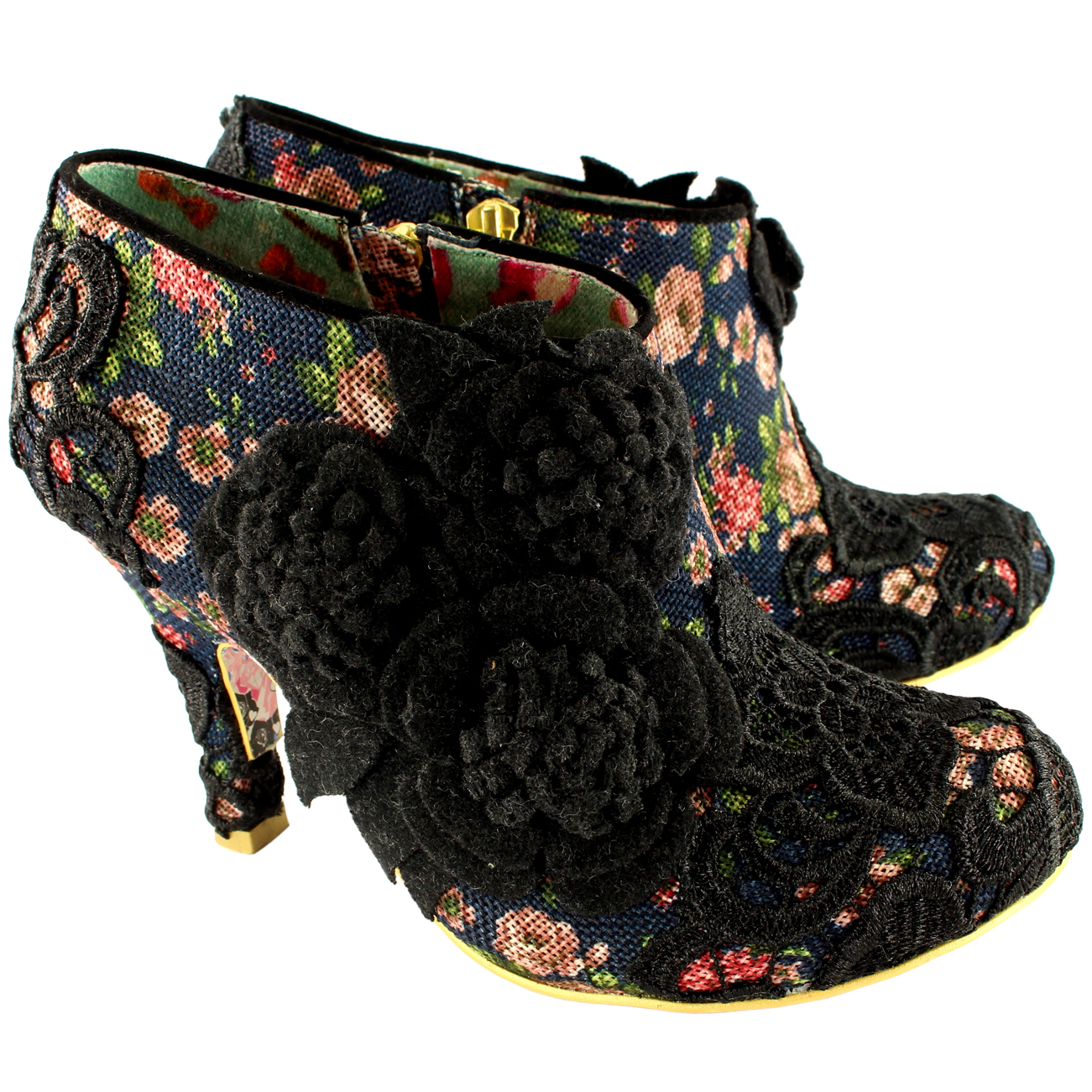 Irregular Choice Cheeky Mosse Mid Heels