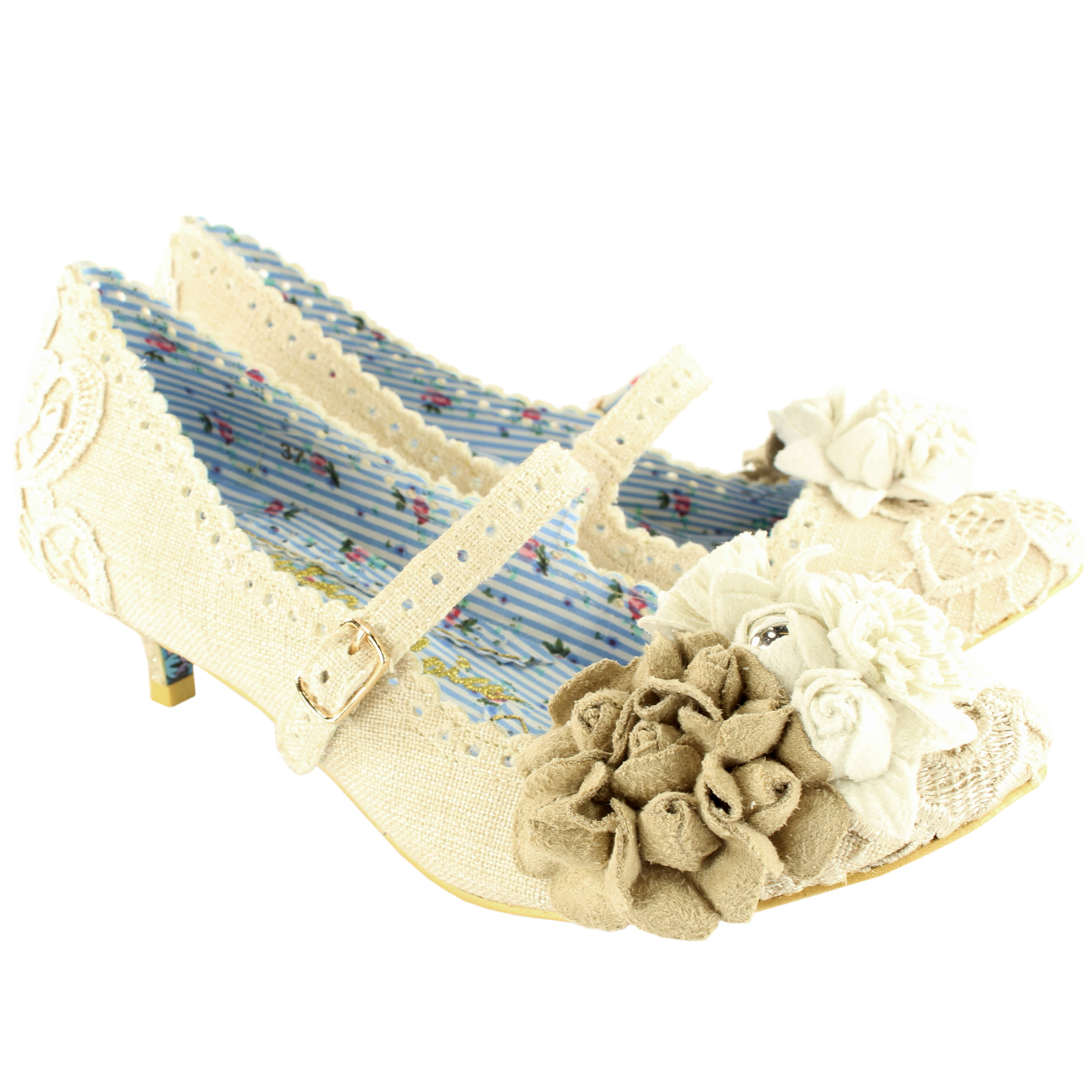 Irregular Choice Daisy Dayz Kitten Heels