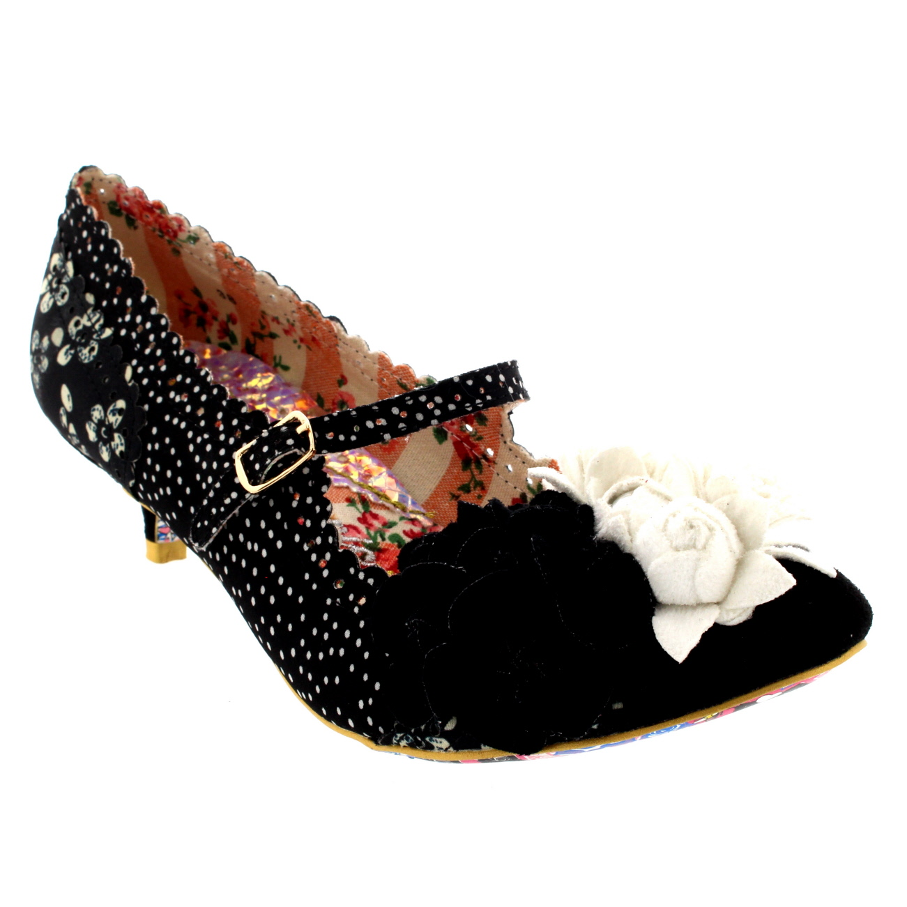 Womens Irregular Choice Daisy Dayz Mary Jane Court Shoe Kitten ...