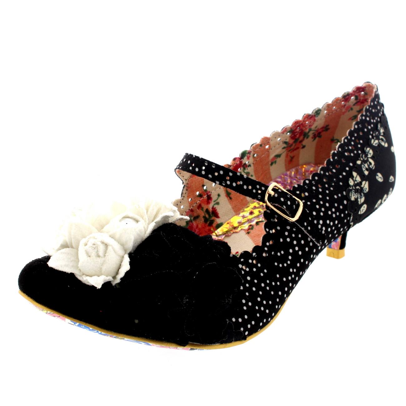 debc0032668 Womens Irregular Choice Daisy Dayz Mary Jane Court Shoe Kitten Heels ...