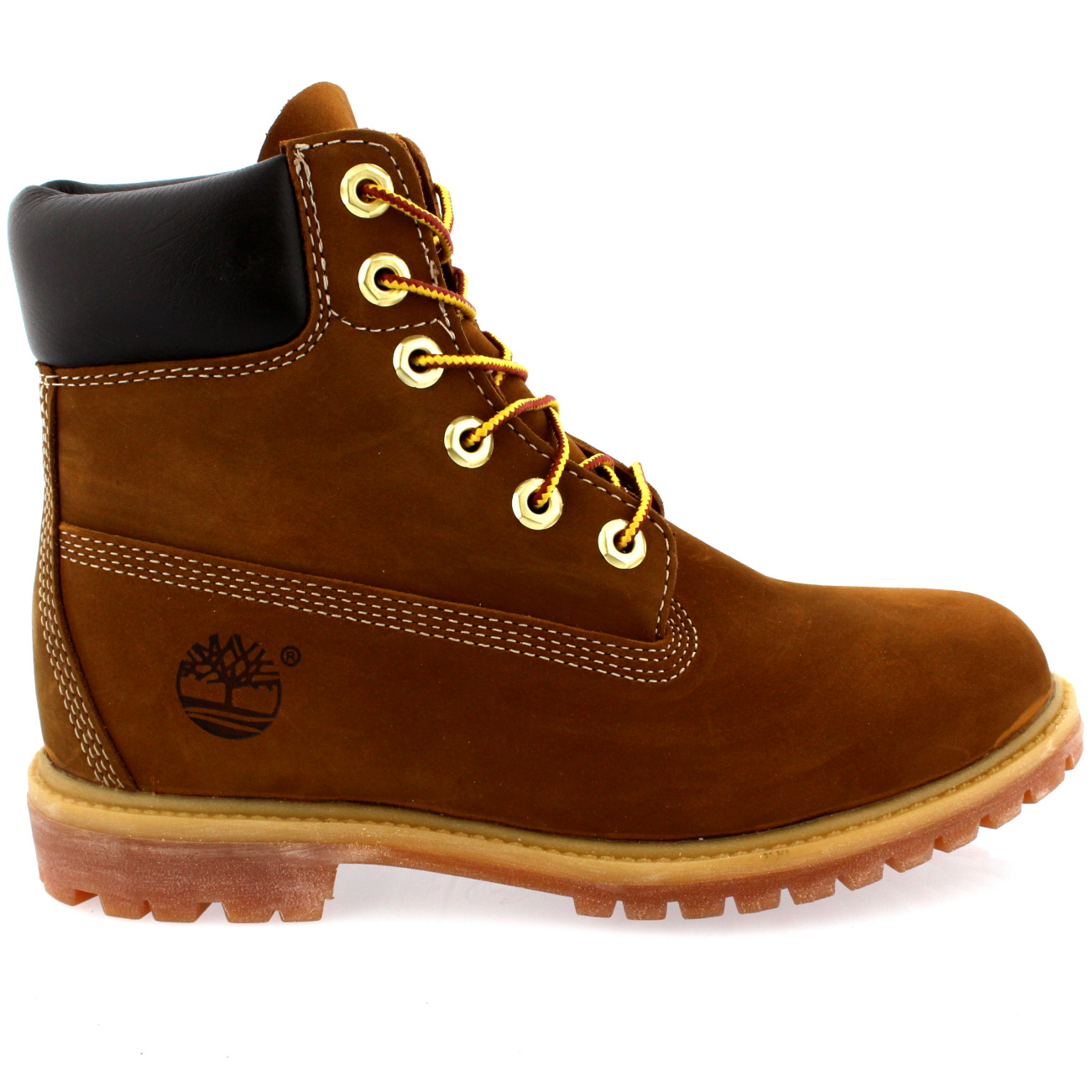 womens timberland 6 premium lace up rust leather original