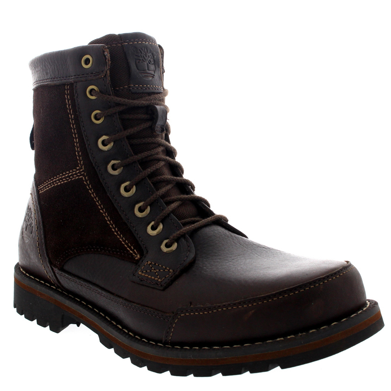 mens timberland larchmont 6 mid top leather lace up ankle
