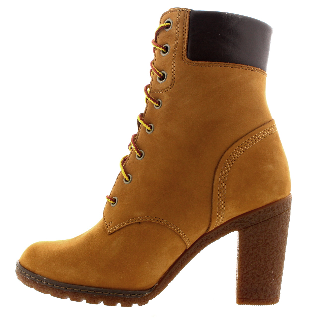 Unique Womens Timberland Glancy 6 Inch Brown Lace Up Heel Boots Shoes 8430A | EBay
